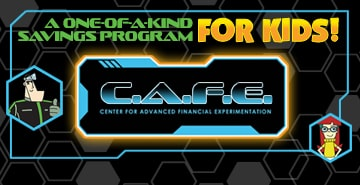 graphic of youth savings program, C.A.F.E.