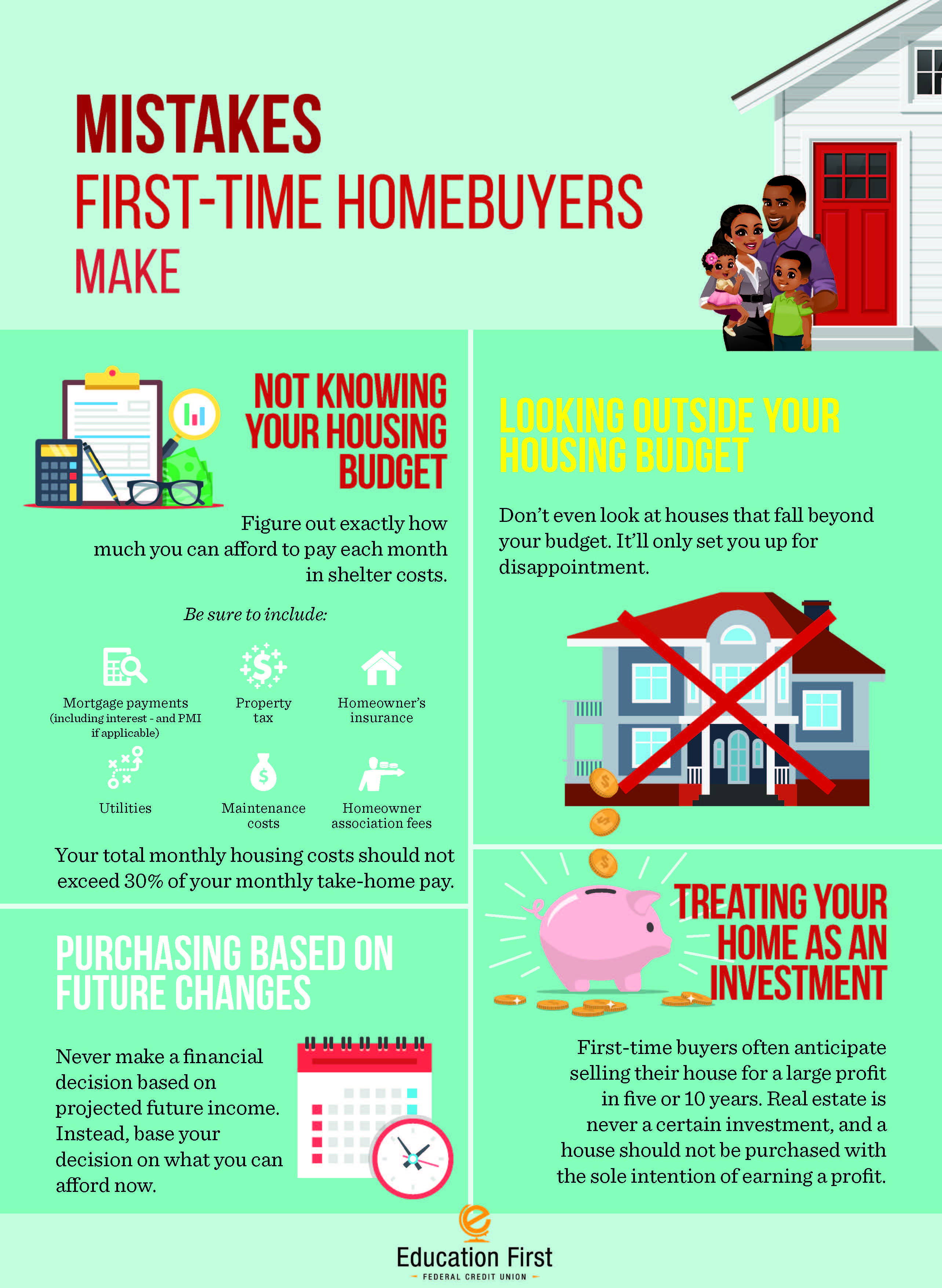 Mistakes first time homebuyers make
