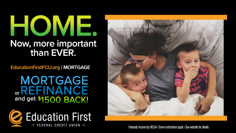 Mortgage and Refinance with EFFCU and get up to $1500 back