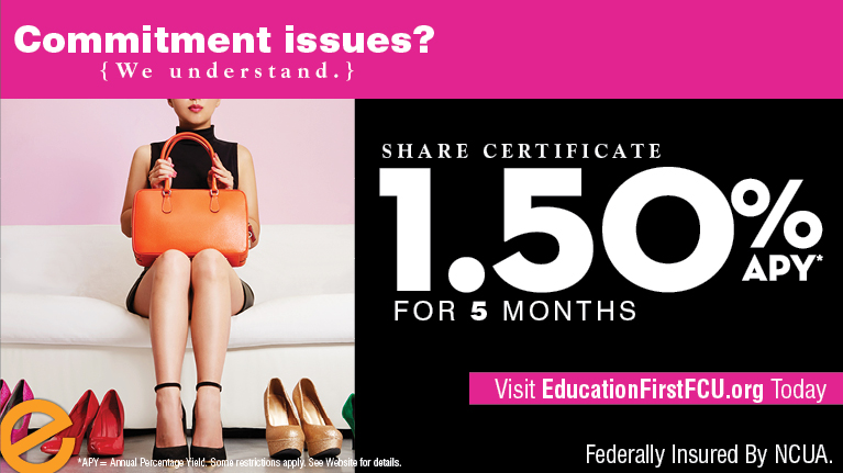 Share Certificate Rate -  1.5%25 APY for 5 Months