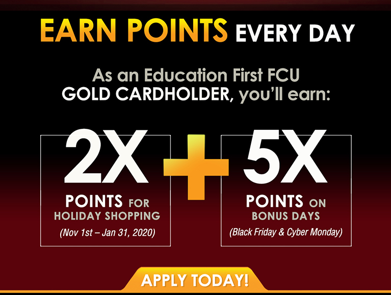 Visa Gold credit card holders double rewards