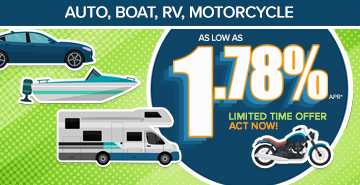 graphic of auto,  boat, RV and motorcycle