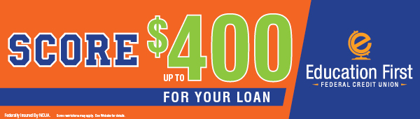 Score up to $400 cash back on your loan
