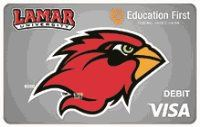 image of a debit card for lamar university students