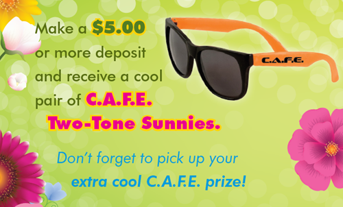 June CAFE giveaway - two tone sunglasses