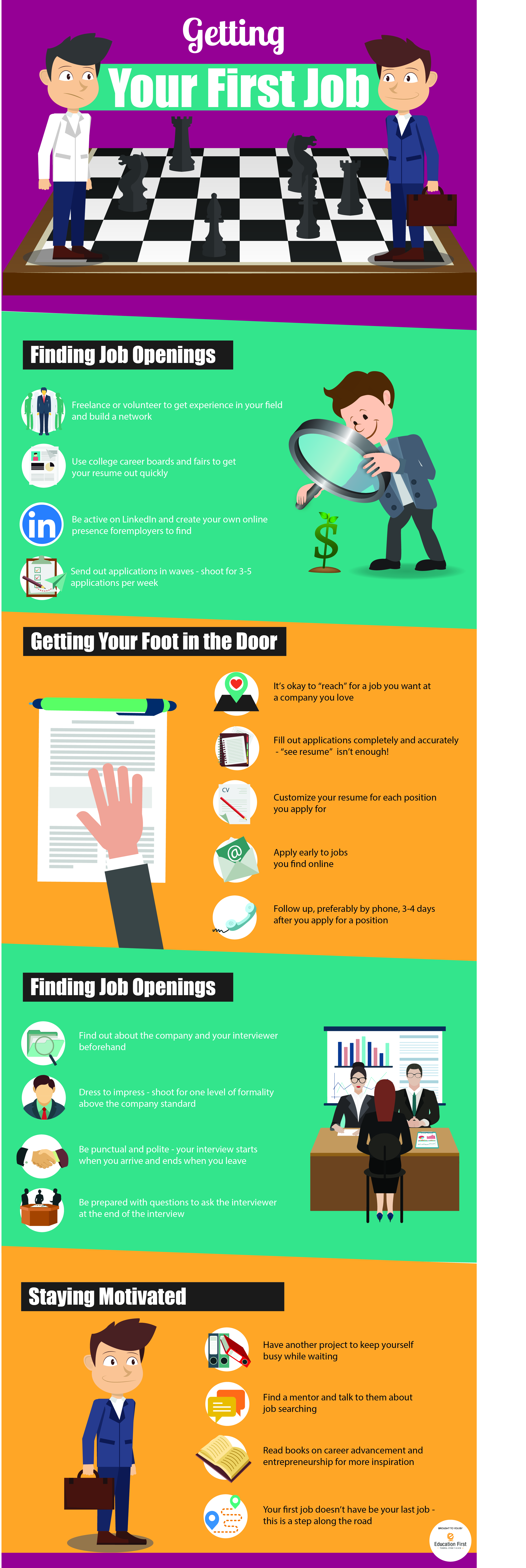 Tips on getting your first job