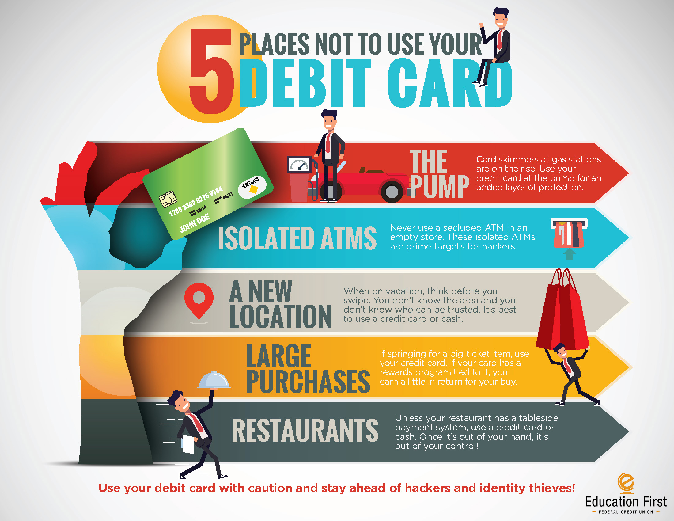 5 places to not use your debit card